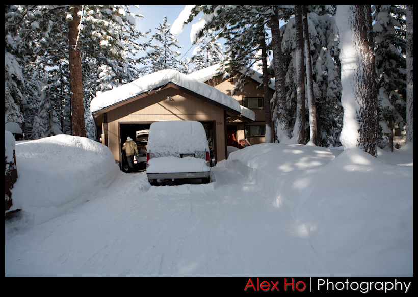 car snow winter and snow at Lake Tahoe