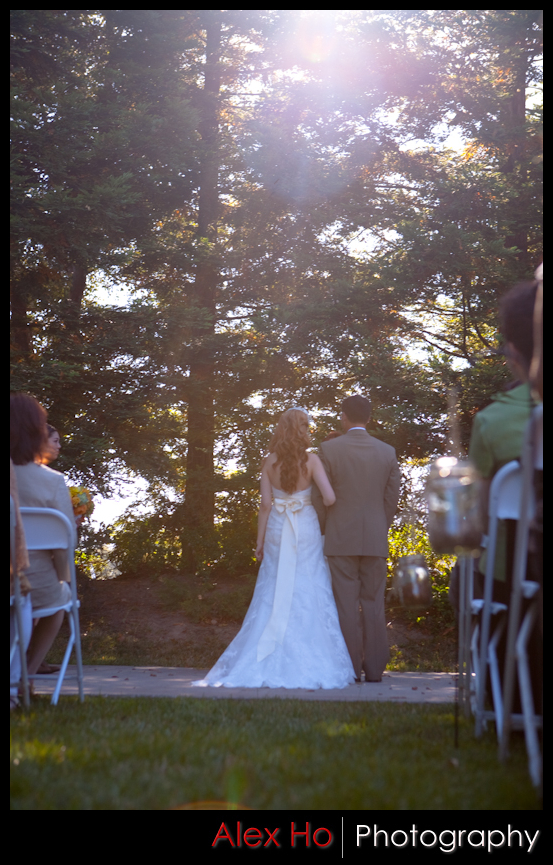 fortino winery wedding ceremony