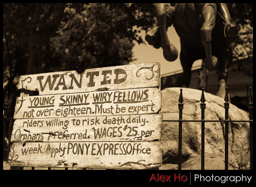 pony express wanted sign