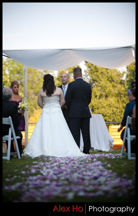 bride groom altar outdoor ceremony wedding napa