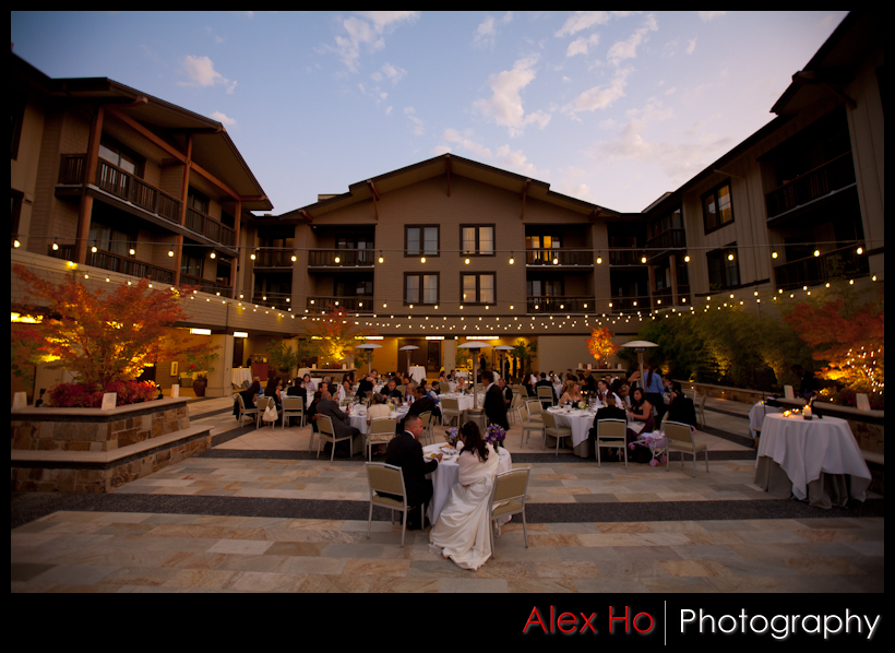 westin napa verasa wedding reception dinner outdoor summer