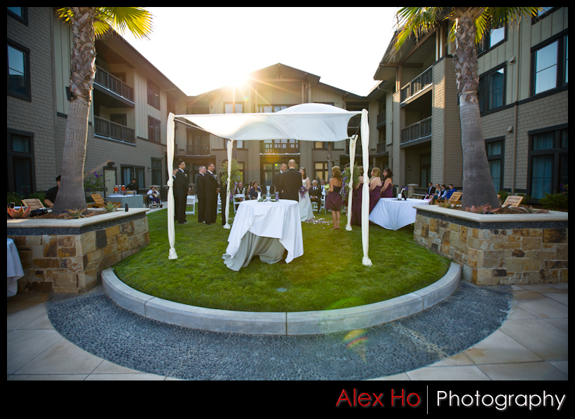 westin napa verasa wedding ceremony