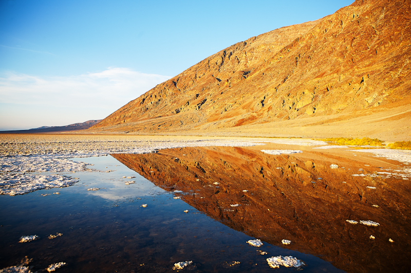 badwater reflection death valley