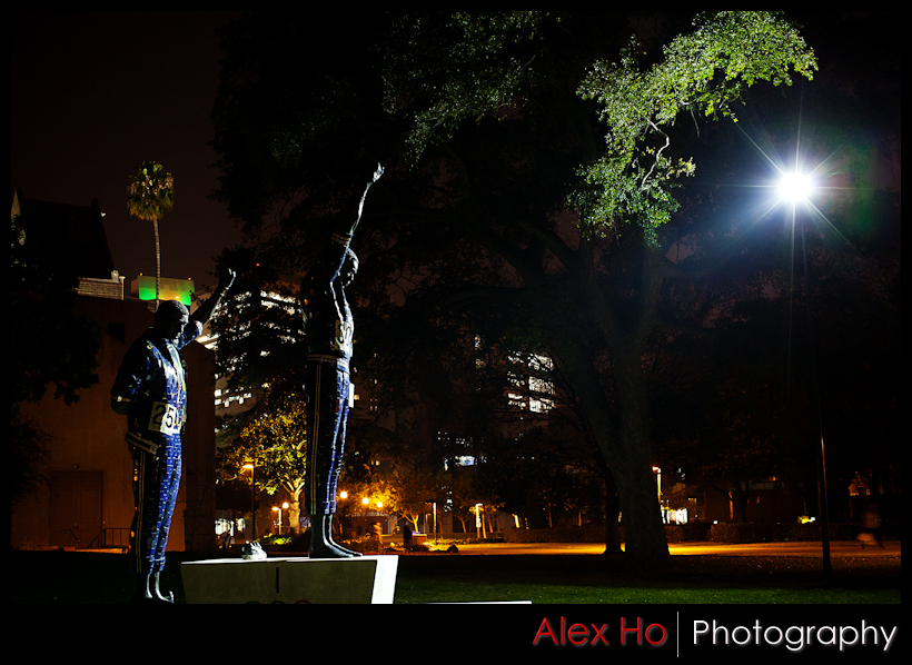 sjsu 1968 black power olympic salute statue memorial