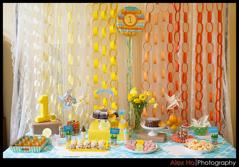 birthday party sweets table