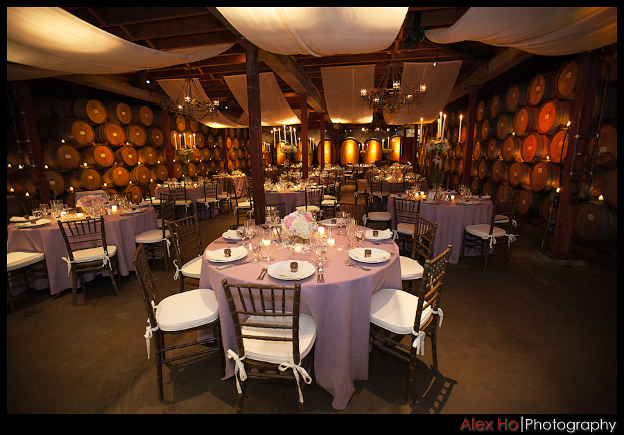 v sattui winery wine cellar wedding reception