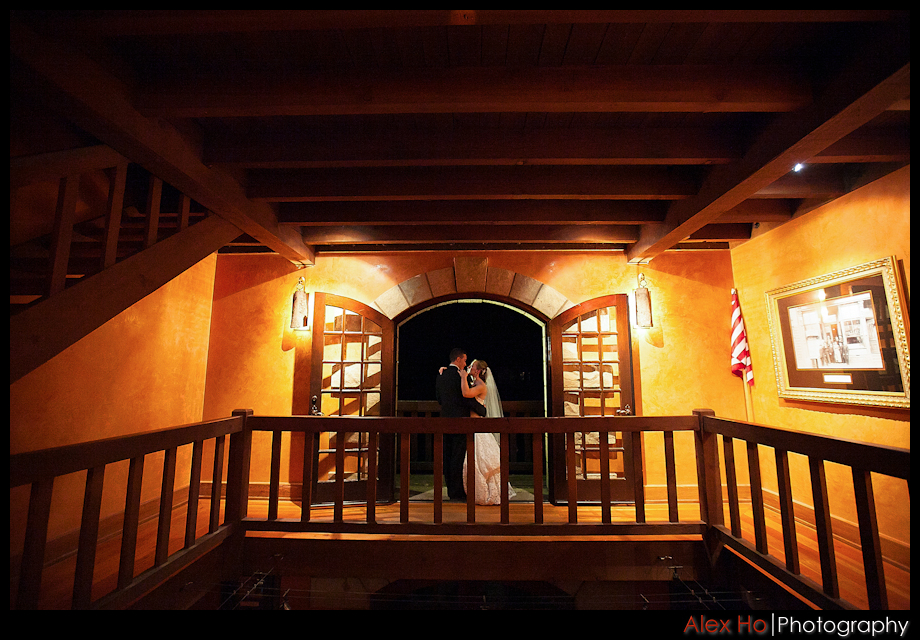 bride and groom romantic sattui winery wine cellar wedding