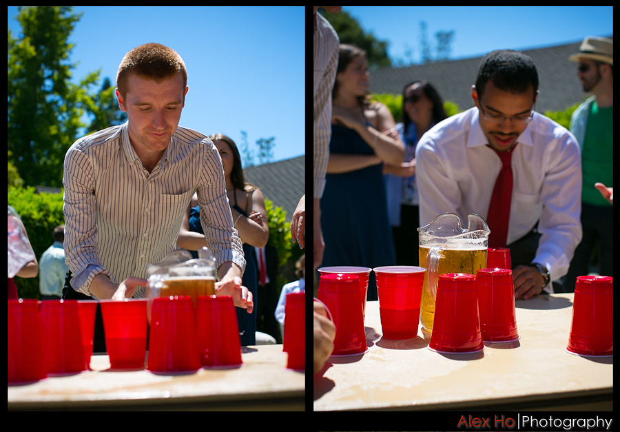 wedding reception flipcup