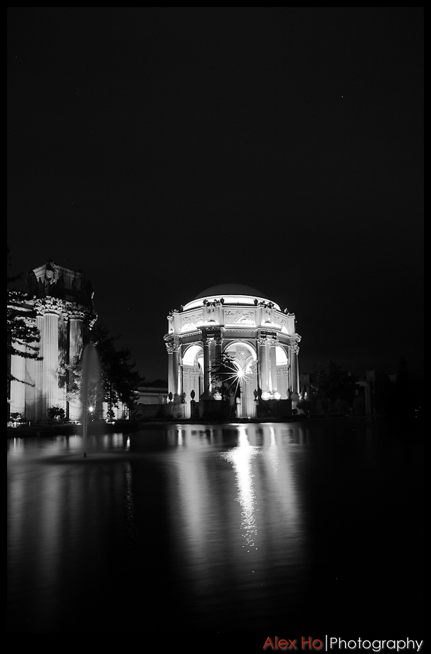 palace of fine arts san francisco night evening