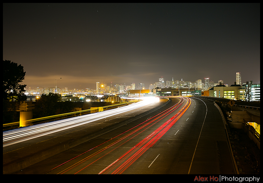 highway freeway long exposure san francisco night evening