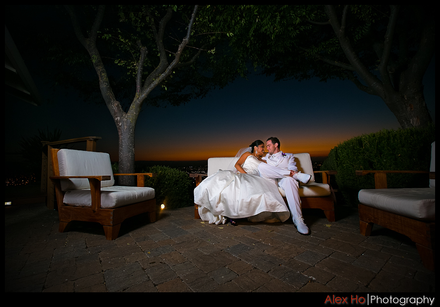 bella montagna sunset bride groom wedding portrait twilight