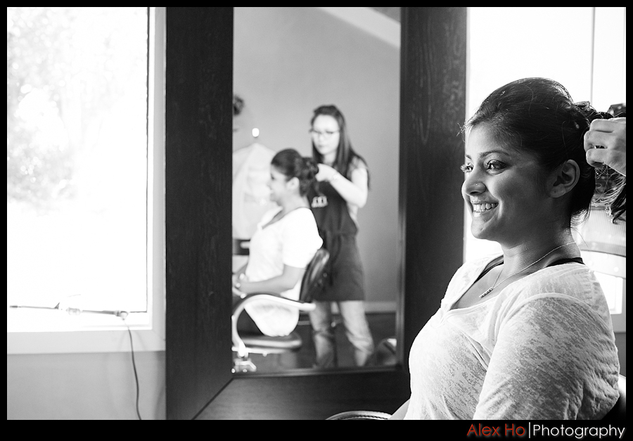 bella montagna bride getting ready