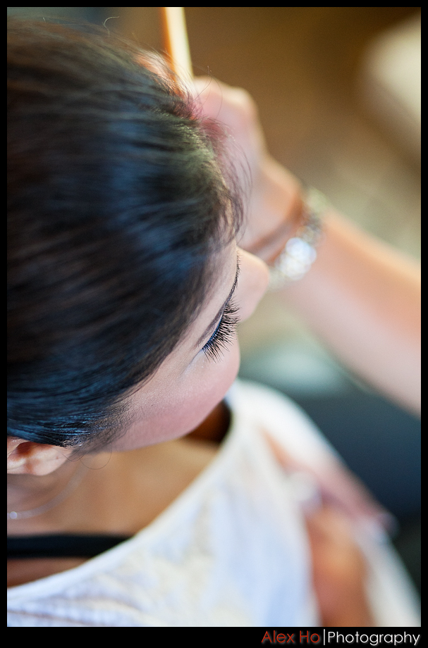 bella montagna bride getting ready makeup
