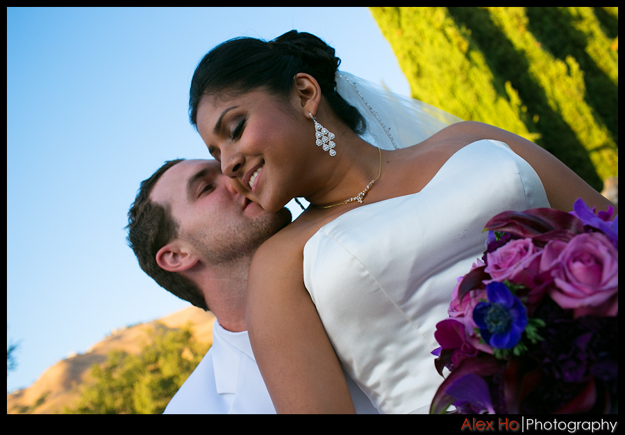 bride groom bouquet san jose wedding portrait