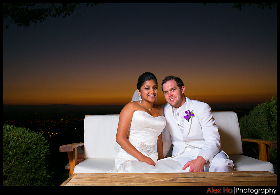 bella montagna sunset bride groom portrait