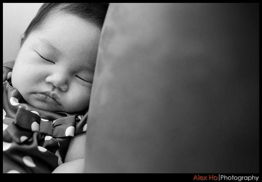baby photoshoot sleeping