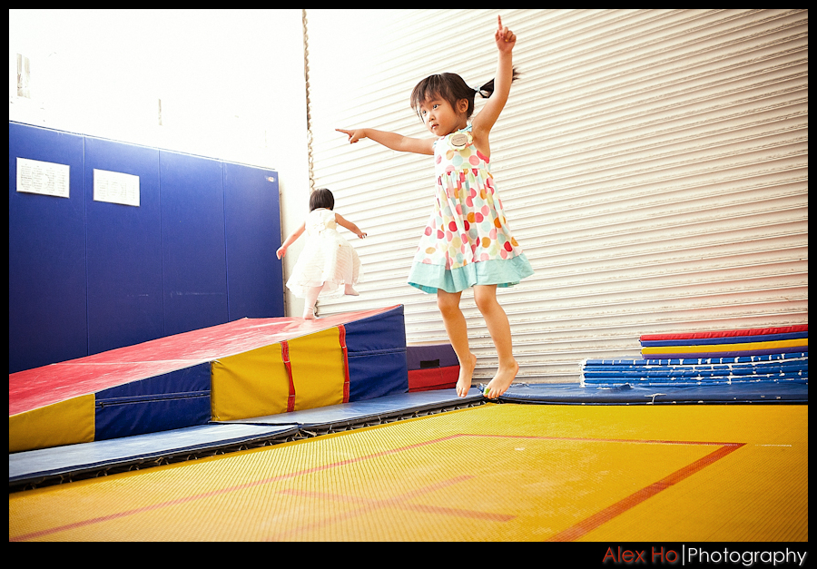 head over heels gym children birthday party trampoline