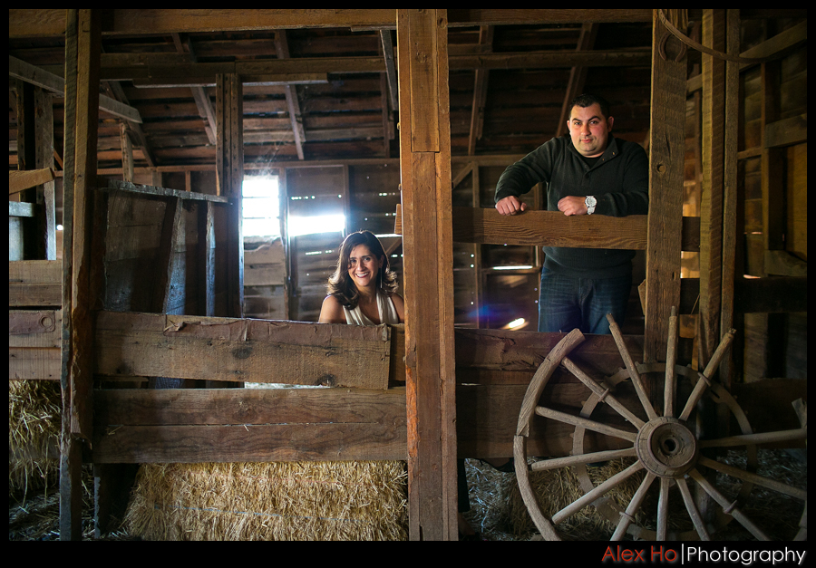 rustic barn portrait