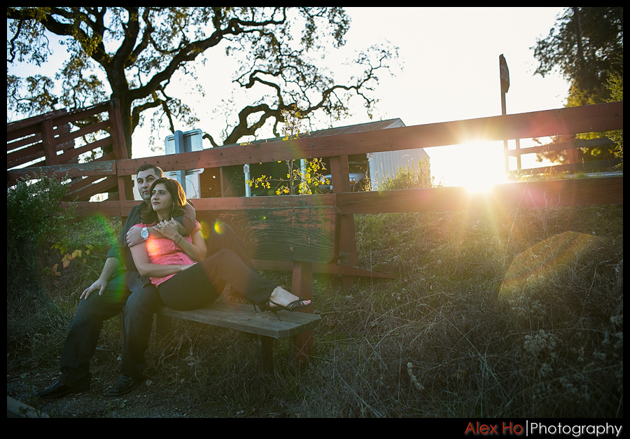 sunflare Henry Coe State Park Engagement Session