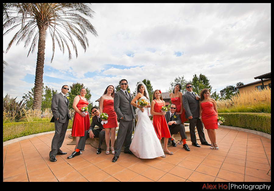 bridal party sonoma lodge wedding