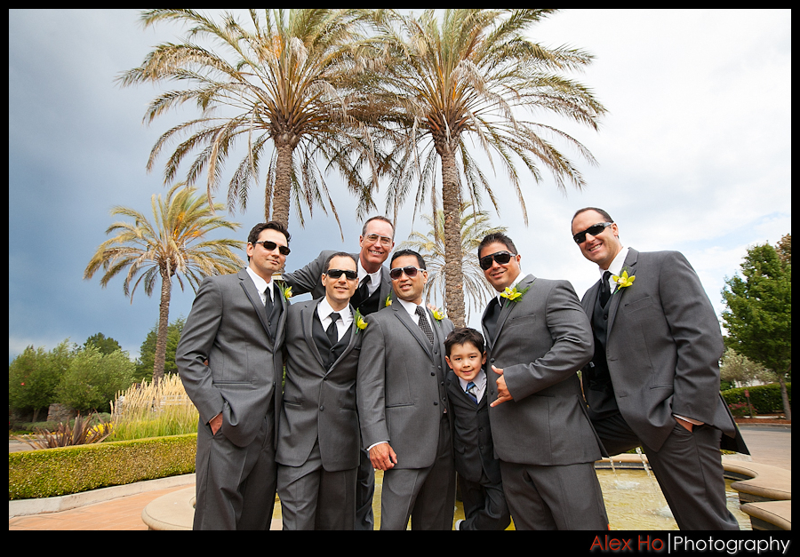 bridal party groomsmen sonoma lodge wedding