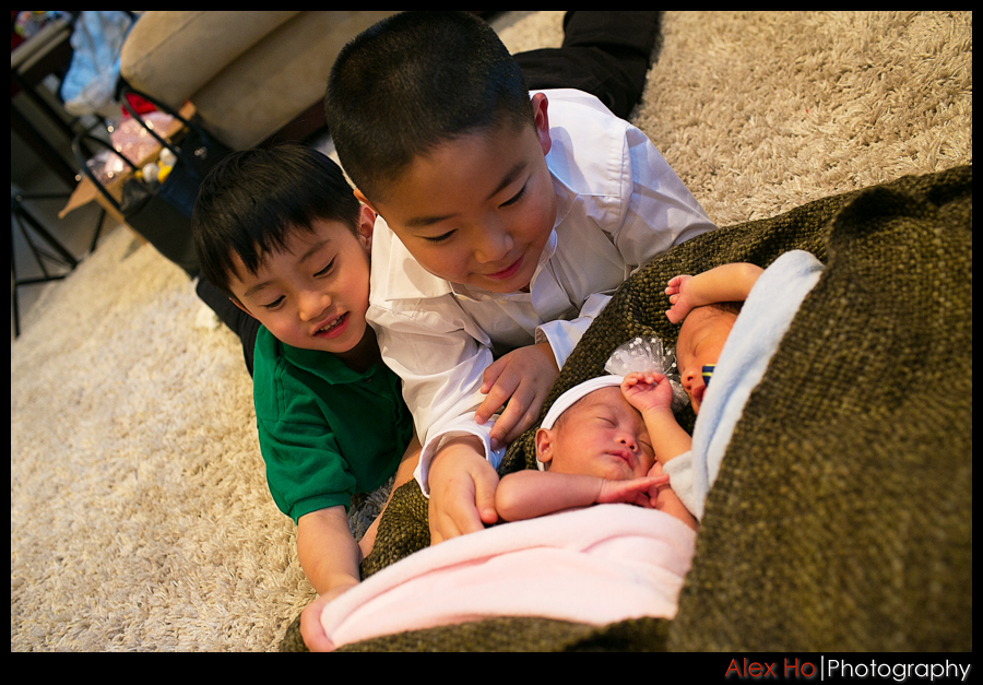 newborn twins and kids
