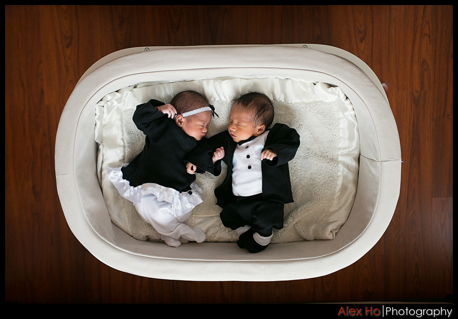 newborn baby boy girl twins photosession