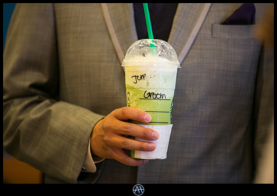 starbucks for the groom