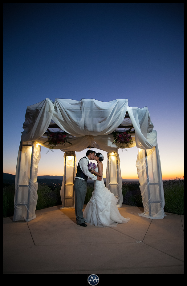 boulder ridge golf club san jose pavilion event center twilight sunset picture bride groom