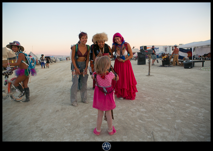 burning man little girl camera