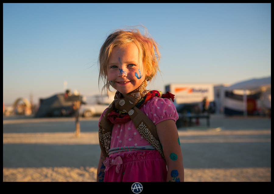 burning man cute little girl