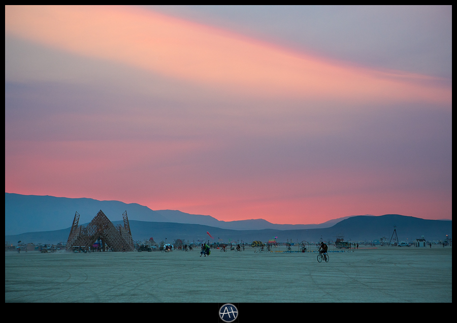 burning man sunset beautiful