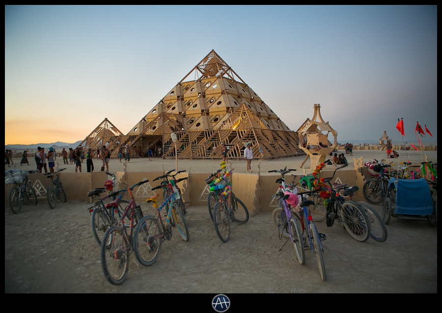 burning man sunset the temple