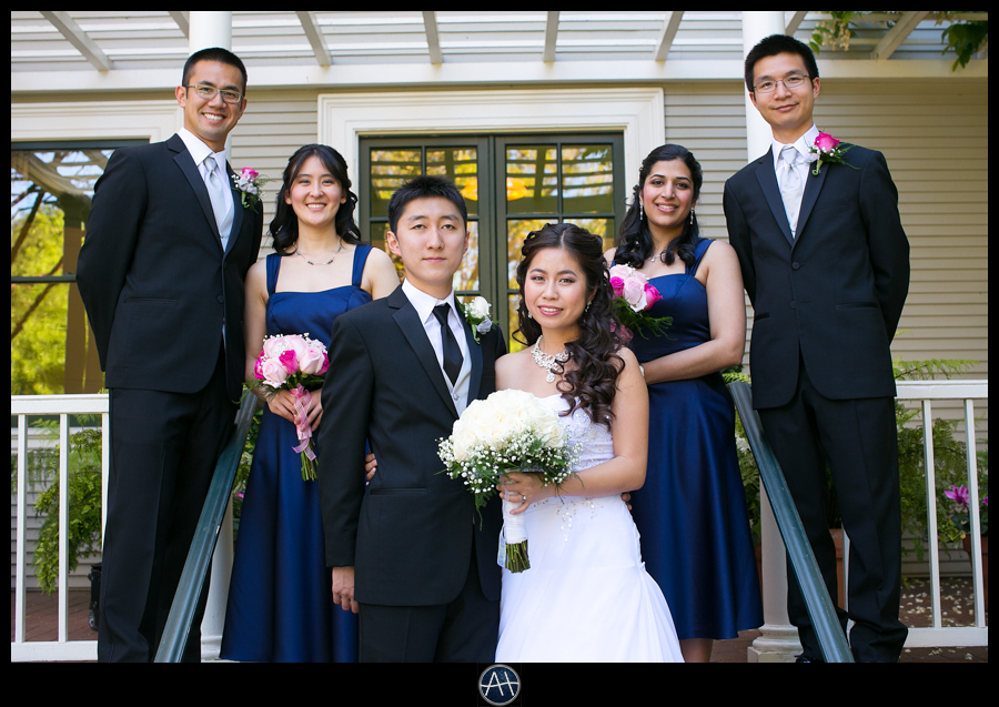 palo alto bridal party wedding