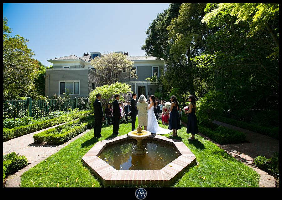 palo alto gamble gardens wedding ceremony