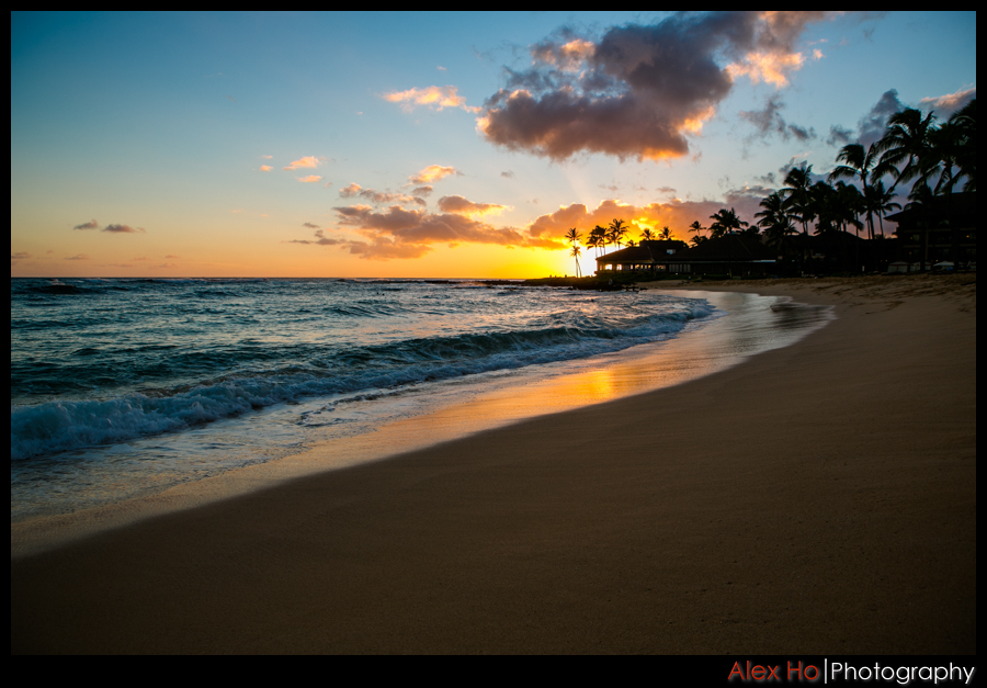 kauai beach sunset hawaii