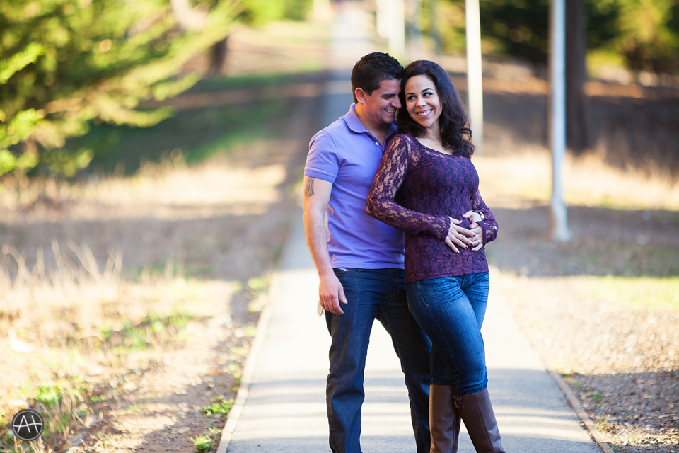 engagement session presidio lovers lane