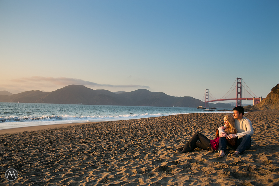san francisco beach sunset esession