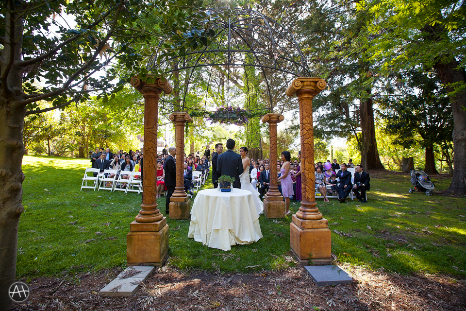 ceremony outdoor wedding palmdale estates fremont