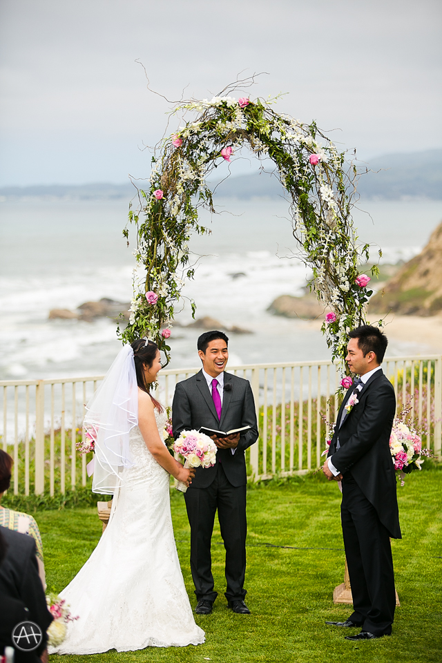 ritz carlton half moon bay wedding ceremony