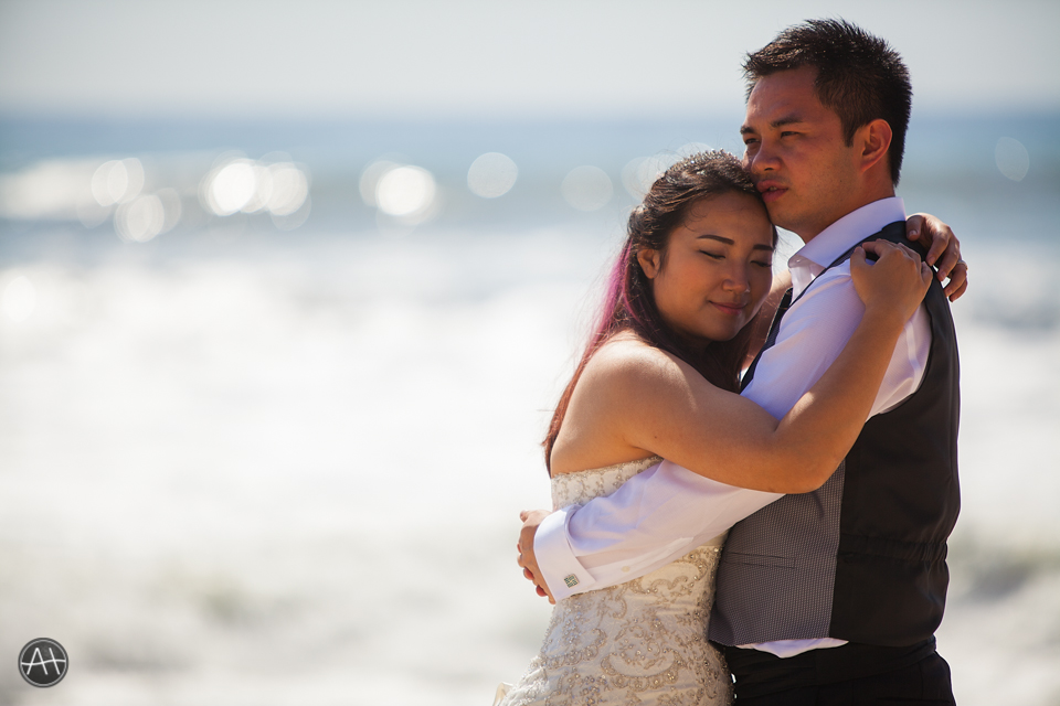 beach half moon bay wedding