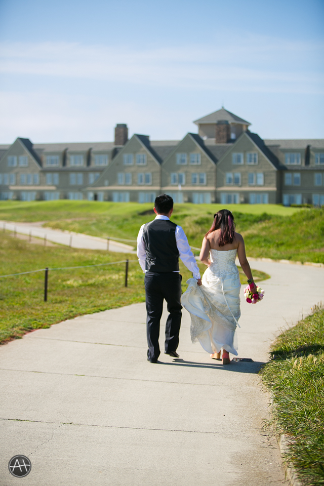 beachside ritz carlton half moon bay golf course wedding