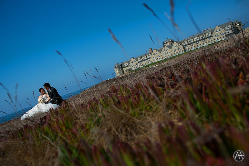 half moon bay ritz carlton bride groom