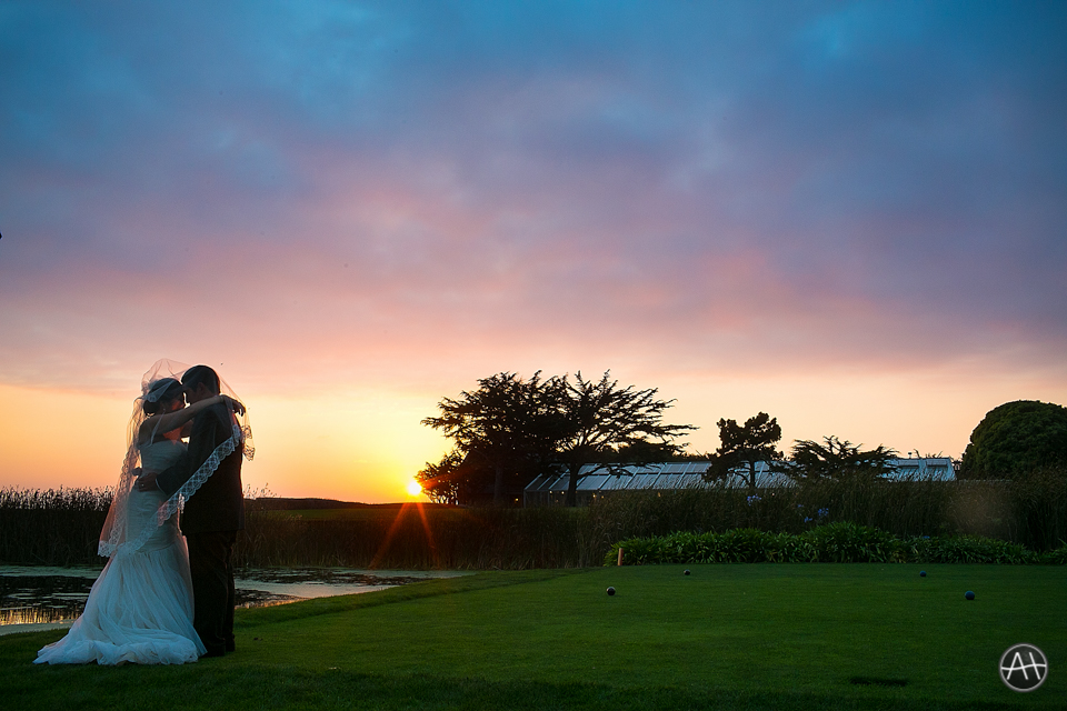 half moon bay sunset wedding