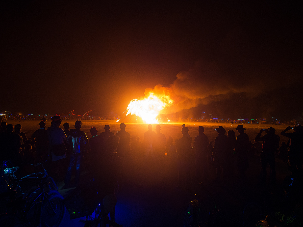 burning man 2014 volcano burn
