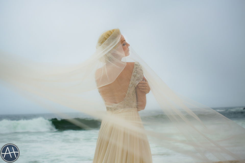 beach photoshoot wedding veil