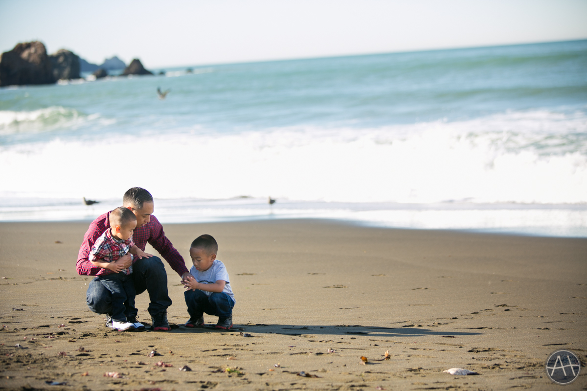 pacifica family kids photosession beach