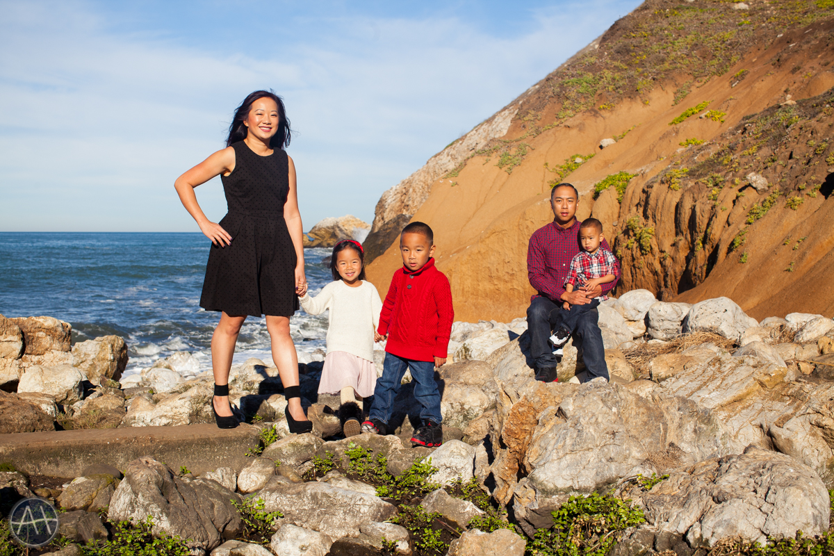 pacifica family portrait session mori point