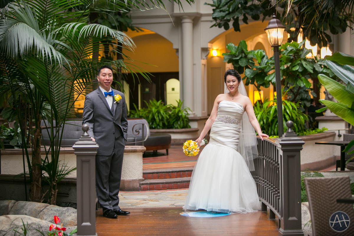 embassy suites burlingame wedding couple