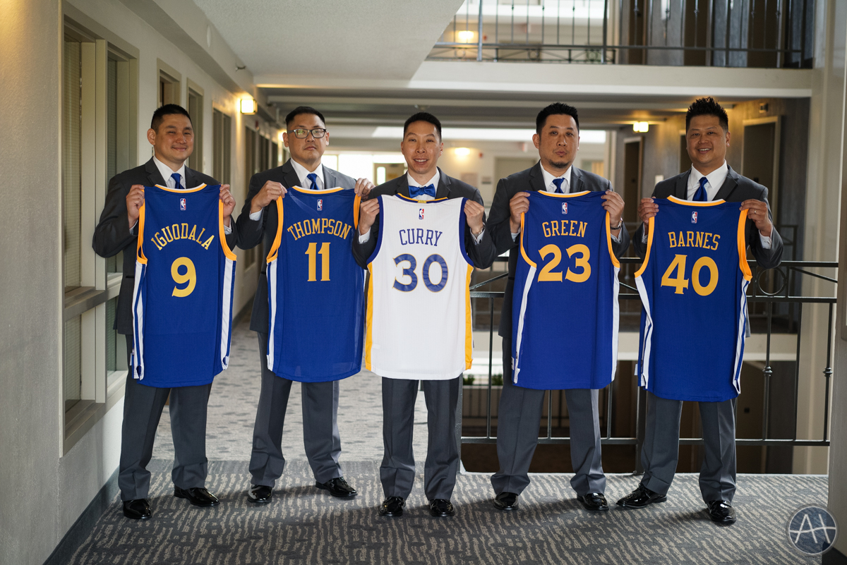 embassy suites groomsmen warriors jerseys